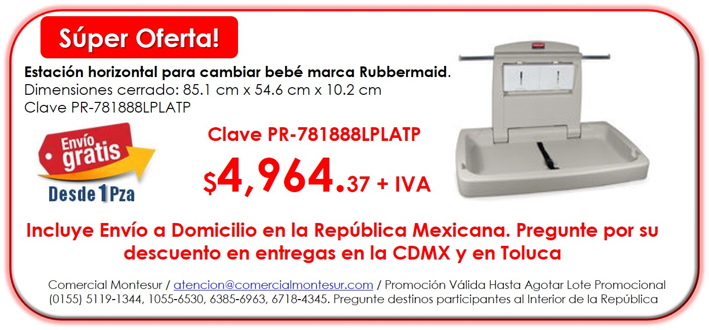 Cambia Pañales  Rubbermaid